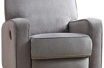 Pulaski Sutton Swivel Glider Recliner, Zen Grey with Stella Piping-1