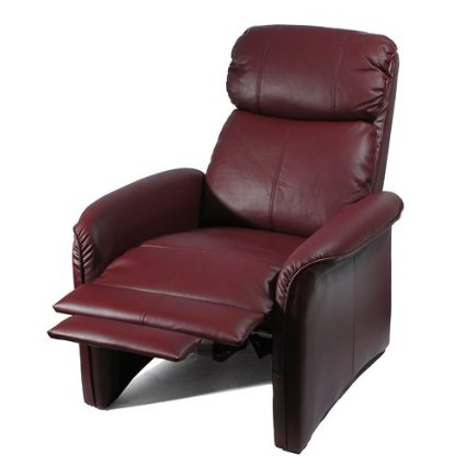 Home Leather Soft Pad Cozy Recliner Chair
