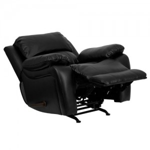 Flash Furniture Black Leather Rocker Recliner