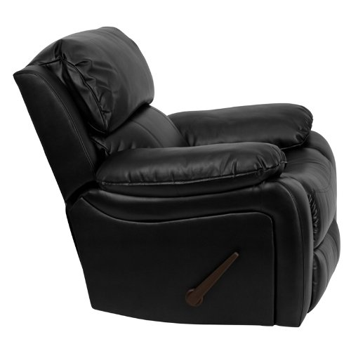 flash furniture black leather rocker recliner review - Leather Rocker Recliner