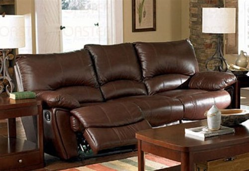 Recliner Sofa Couch in Brown Leather Match