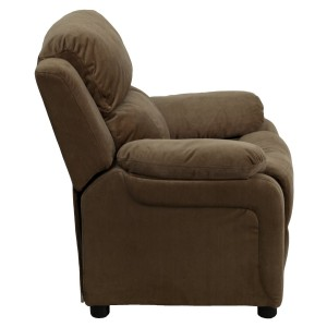 Deluxe Heavily Padded Contemporary Brown Microfiber Kids Recliner Review