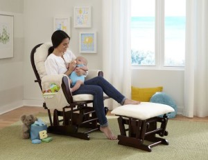 Stork Craft Hoop Glider and Ottoman Set