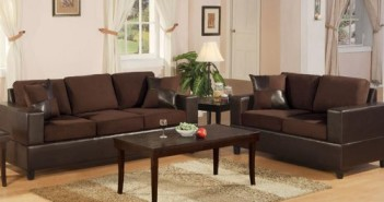 Bobkona Seattle Microfiber Sofa and Loveseat 2-Piece Set