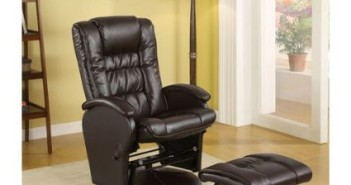 Coaster Rimini Euro Faux Leather Glider Recliner and Ottoman Review