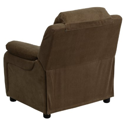 Deluxe-Heavily-Padded-Contemporary-Brown-Microfiber-Kids-Recliner-With-Storage-Arms-View2
