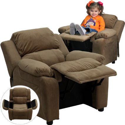 Deluxe-Heavily-Padded-Contemporary-Brown-Microfiber-Kids-Recliner-With-Storage-Arms-View4