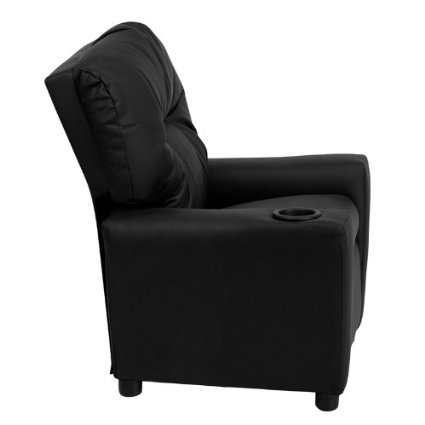 Flash-Furniture-BT-7950-KID-BK-LEA-GG-Contemporary-Black-Leather-Kids-Recliner-With-Cup-Holder-View1