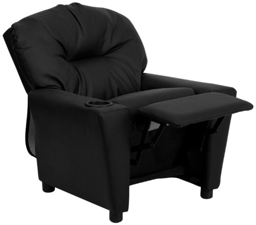 Flash-Furniture-BT-7950-KID-BK-LEA-GG-Contemporary-Black-Leather-Kids-Recliner-With-Cup-Holder-View3
