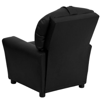 Flash-Furniture-BT-7950-KID-BK-LEA-GG-Contemporary-Black-Leather-Kids-Recliner-With-Cup-Holder-View4