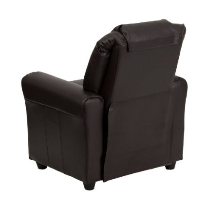 Flash-Furniture-DG-ULT-KID-BRN-GG-Contemporary-Brown-Vinyl-Kids-Recliner-With-Cup-Holder-And-Headrest-View1