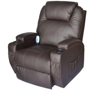 HOMCOM Deluxe Heated Massaging Recliner Chair