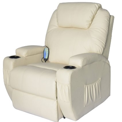 HomCom-Deluxe-Heated-Vibrating-PU-Leather-Massage-Recliner-Chair -Cream-View4