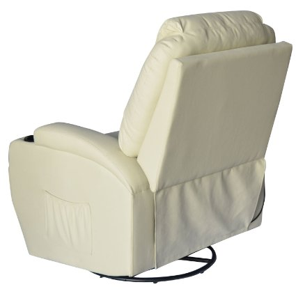HomCom-Deluxe-Heated-Vibrating-PU-Leather-Massage-Recliner-Chair -Cream-View5