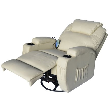 HomCom-Deluxe-Heated-Vibrating-PU-Leather-Massage-Recliner-Chair -Cream-View7