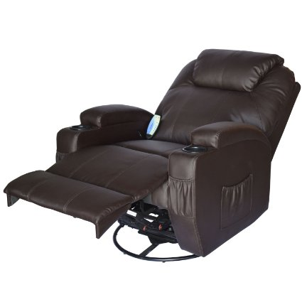 HomCom-Deluxe-Heated-Vibrating-PU-Leather-Massage-Recliner-Chair-View1