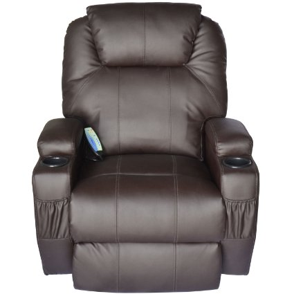 HomCom-Deluxe-Heated-Vibrating-PU-Leather-Massage-Recliner-Chair-View2