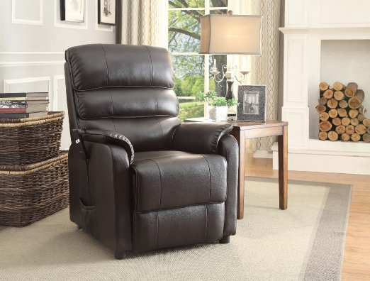 Homelegance 8545 1lt Lift Recliner Chair Dark