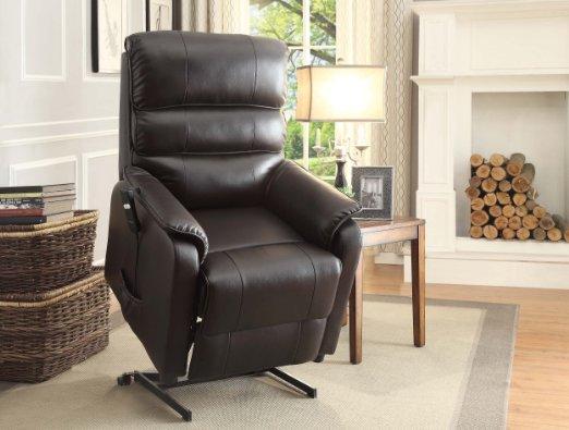 Homelegance-8545-1LT-Power-Lift-Recliner-Chair,-Dark-Brown-Bonded-Leather-View3