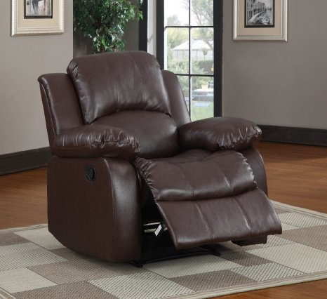 Homelegance-9700BRW-1-Upholstered-Recliner-Chair,-Warm-Brown-Bonded-View1