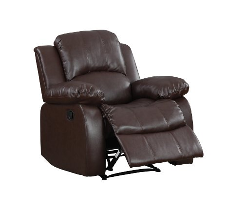 Homelegance-9700BRW-1-Upholstered-Recliner-Chair,-Warm-Brown-Bonded-View2
