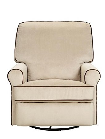 Pulaski-Birch-Hill-Swivel-Glider-Recliner,-Doe-With-Coffee-Piping-View1