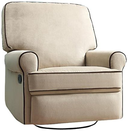 Pulaski-Birch-Hill-Swivel-Glider-Recliner,-Doe-With-Coffee-Piping-View3