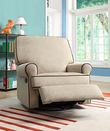 Pulaski-Birch-Hill-Swivel-Glider-Recliner,-Doe-With-Coffee-Piping-View4