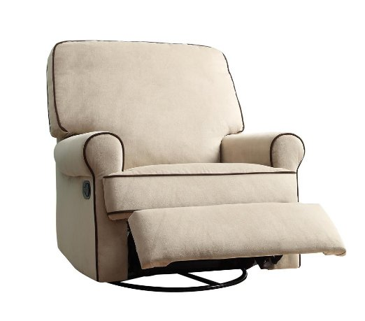 Pulaski-Birch-Hill-Swivel-Glider-Recliner,-Doe-With-Coffee-Piping-View5