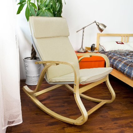 SoBuy-Comfortable-Relax-Rocking-Chair,-Lounge-Chair-With-Cotton-Fabric-Cushion,-FST15-W-View6