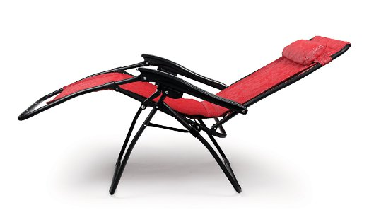Camco-51823-Zero-Gravity-Padded-Recliner-(Red Swirl Pattern)-View1