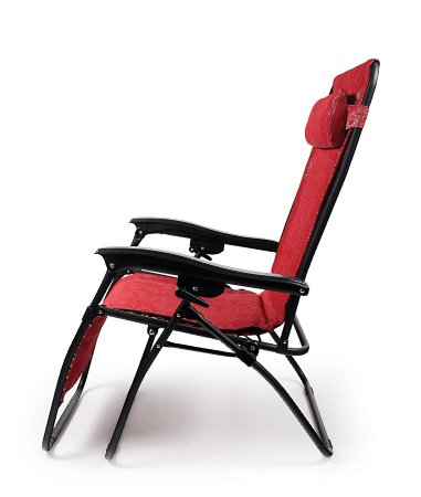 Camco-51823-Zero-Gravity-Padded-Recliner-(Red Swirl Pattern)-View3
