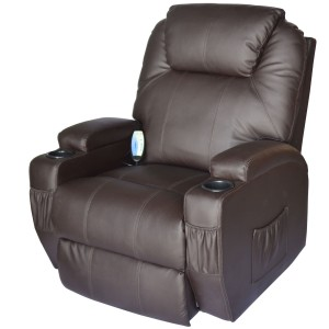 HomCom Deluxe Leather Massager Recliner