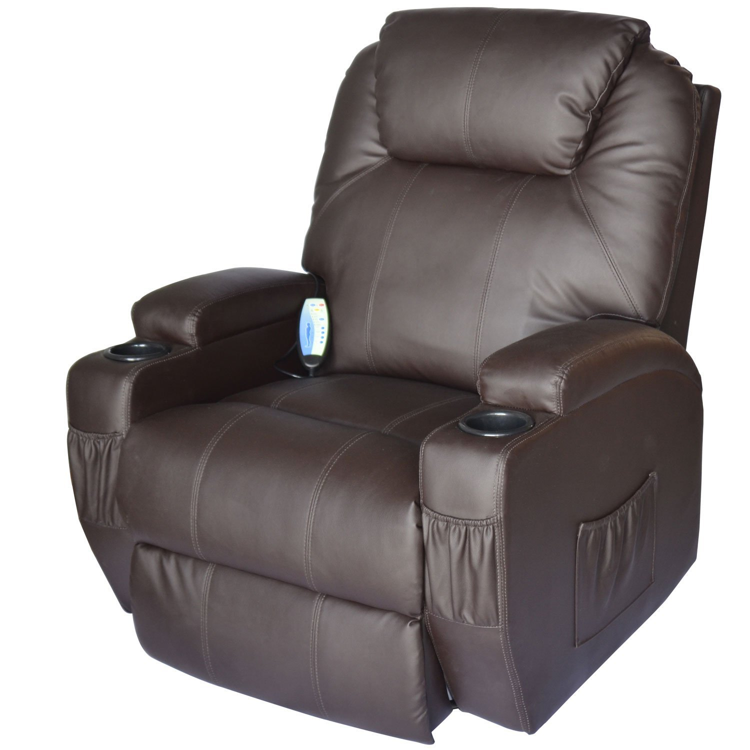 HomCom Deluxe Heated Vibrating PU Leather Massage Recliner Chair  sc 1 st  Best Recliners & Finding The Best Rocker Recliner Chair | Reviews From Best Recliner islam-shia.org