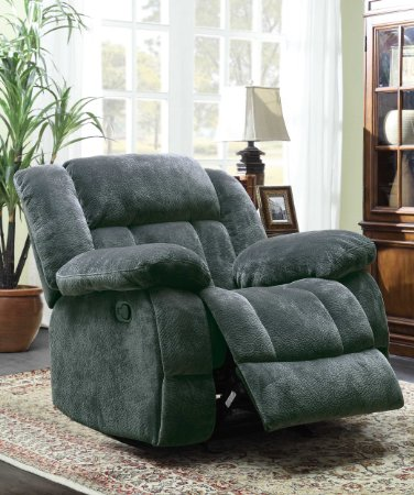 Homelegance-9636CC-1-Laurelton-Textured-Plush-Microfiber-Glider-Recliner-Chair,-Gray-View1