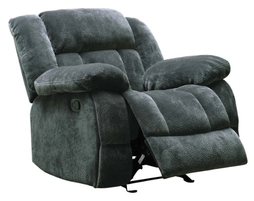 Homelegance-9636CC-1-Laurelton-Textured-Plush-Microfiber-Glider-Recliner-Chair,-Gray-View2