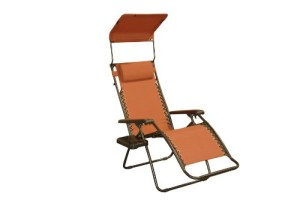 Bliss Gravity Free Folding Recliner w Sun Shade