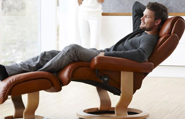 Leather Recliner person sitting