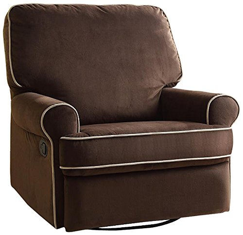 Pulaski Birch Hill Swivel Glider Recliner, Coffee with Doe Piping1