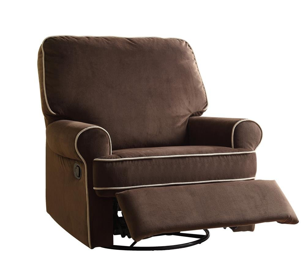 Pulaski Birch Hill Swivel Glider Recliner, Coffee with Doe Piping2