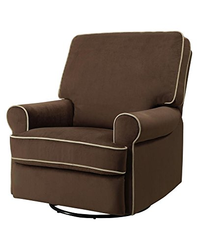 Pulaski Birch Hill Swivel Glider Recliner, Coffee with Doe Piping4