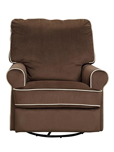 Pulaski Birch Hill Swivel Glider Recliner, Coffee with Doe Piping5