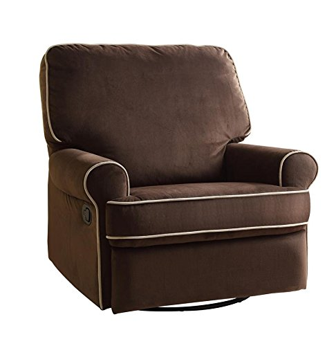 Pulaski Birch Hill Swivel Glider Recliner, Coffee with Doe Piping7