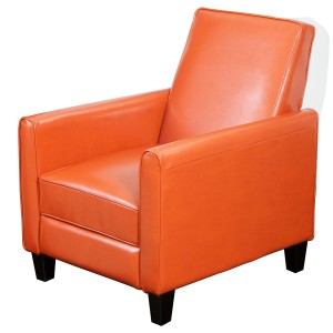 Best Selling Davis Leather Recliner Club Chair, Orange-3