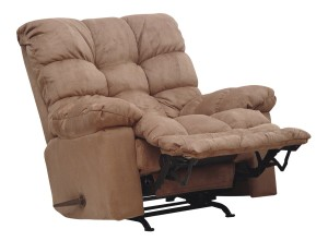 Catnapper Catnapper Magnum Chaise Rocker Recliner in Saddle-2