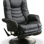 Coaster Home Furnishings 600229 Recliners Casual Leatherette Swivel Recliner, Black-1