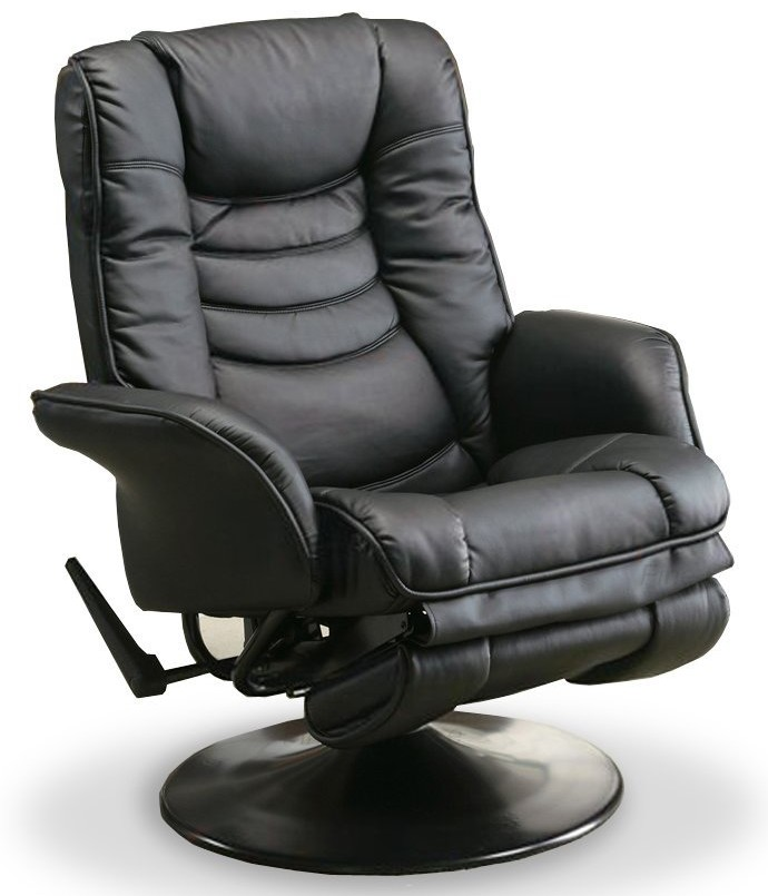 recliners casual leatherette swivel recliner black 1 e1438778664744