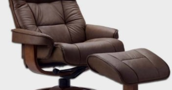Fjords 775 Bergen Large Leather Recliner Norwegian Ergonomic Scandinavian Lounge Reclining Chair-2