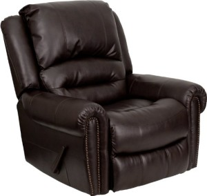 Flash Furniture MEN-DSC01056-BRN-GG Plush Brown Leather Rocker Recliner-2