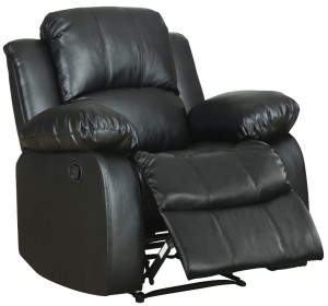 Homelegance 9700BLK-1 Upholstered Recliner Chair, Black Bonded-3